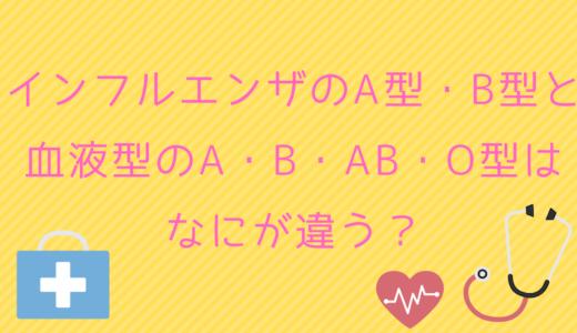 インフルエンザのA型・B型と血液型のA・B・AB・O型はなにが違う?